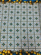 Lemon Tiles Italian Cotton