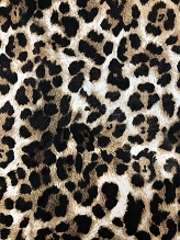 Leopard Italian Stretch Cotton