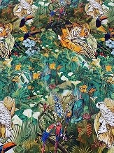 Jungle Tiger Italian Printed Stretch Cotton